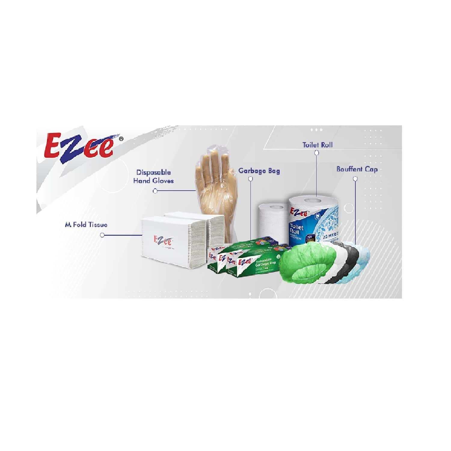 Ezee 2 Ply  Kitchen Towel 2 In 1 Saving Pack  Of 100