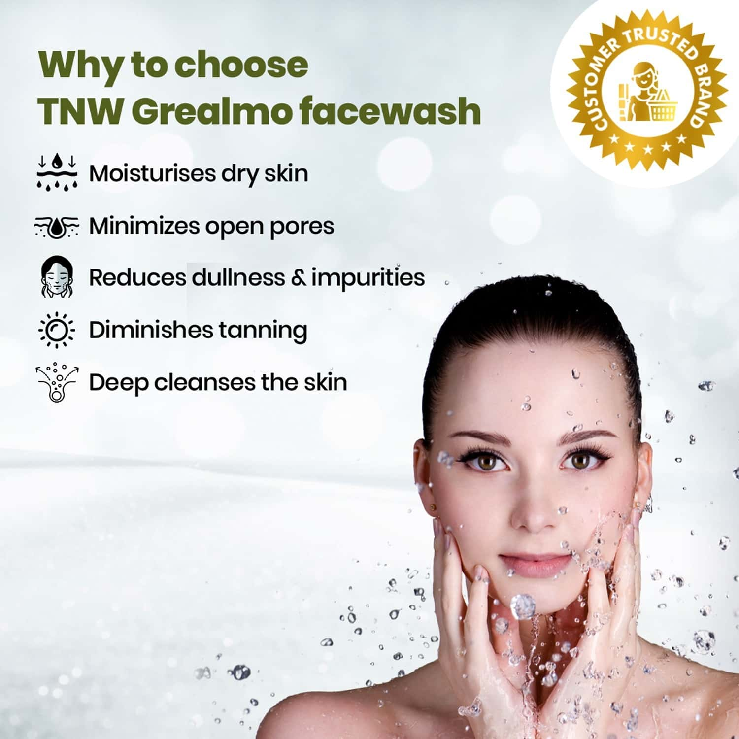 Tnw -the Natural Wash Grealmo Green Tea Face Wash For Clean And Moisturized Skin - 100 Ml