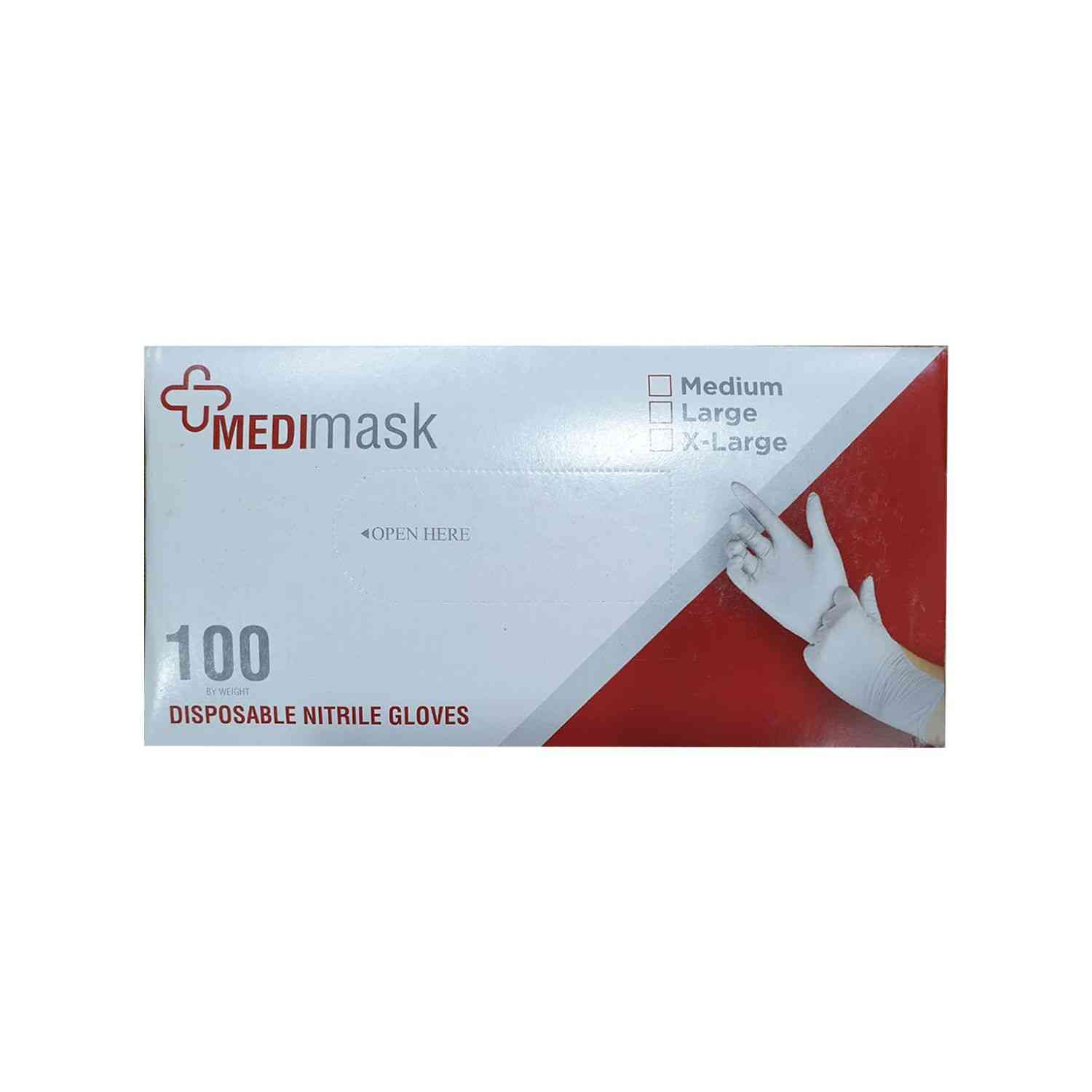 Medimask  Disposable Nitrile Hand Gloves  Box Of 100