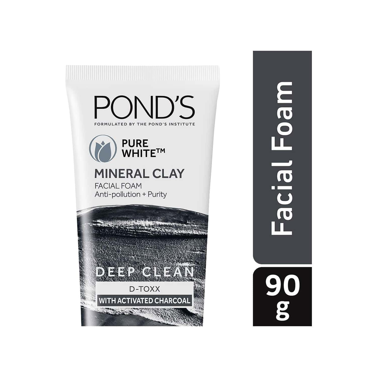 Pond's Pure White Mineral Clay Anti Pollution Purity Face Wash Foam- 90 G