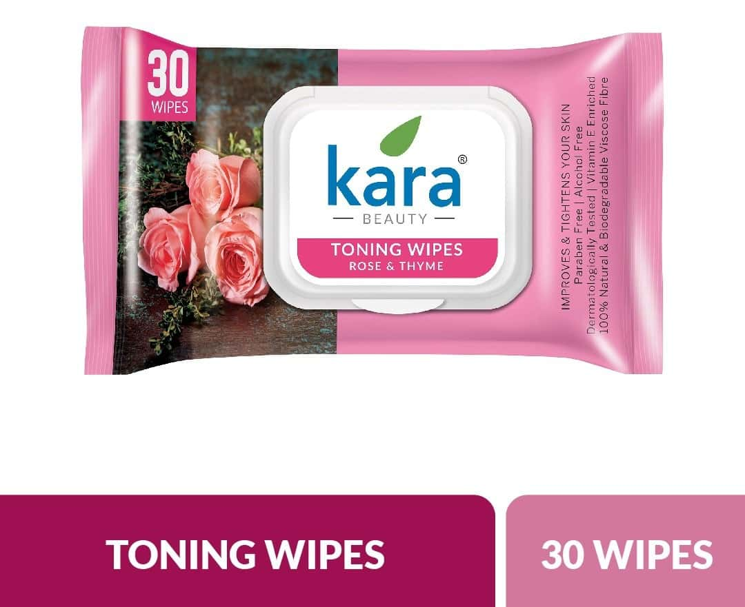 Kara Rose And Thyme Toning Wipes  Packet Of 30