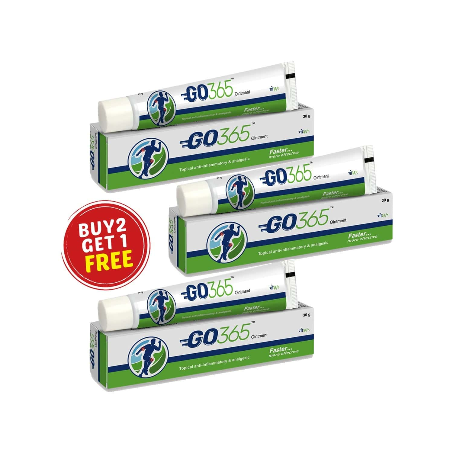 Go365 Ointment Pack Of 3(buy 2 Get 1 Free)