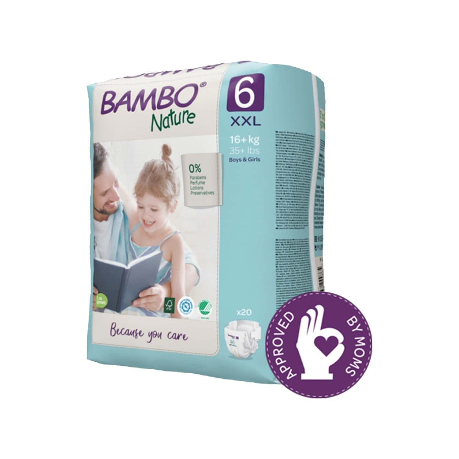 Bambo Nature Xxl Size Diaper With Wetness Indicator - 20 Diapers