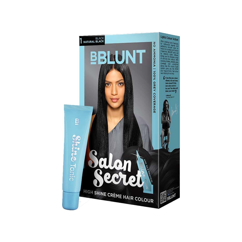 Bblunt Salon Secret High Shine Crme Hair Colour Natural Black - 100 Gm