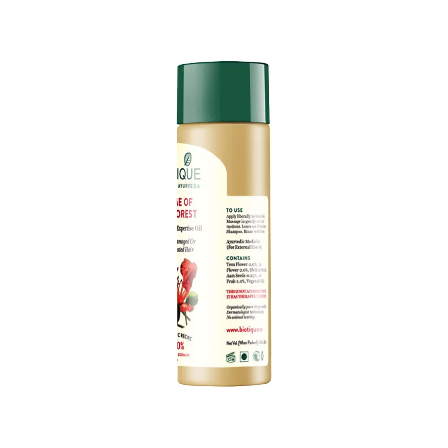 Biotique Bio Flame Of The Forest Fresh Shine Expertise Oil 120 Ml