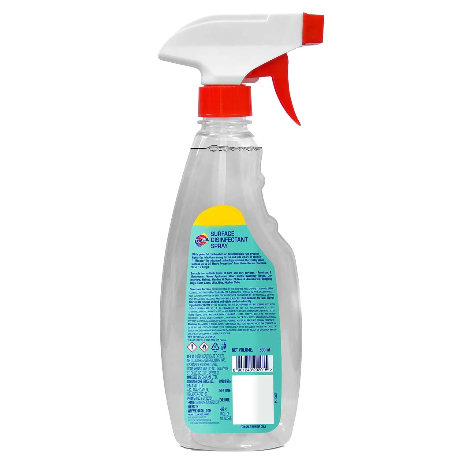 Emami Emasol All Surface Sanitizer - 500 Ml