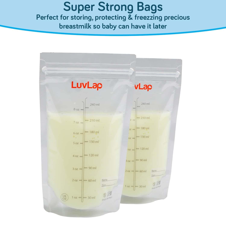Luvlap Baby Breast Milk Storage Bags, (pack Of 25 Bags)