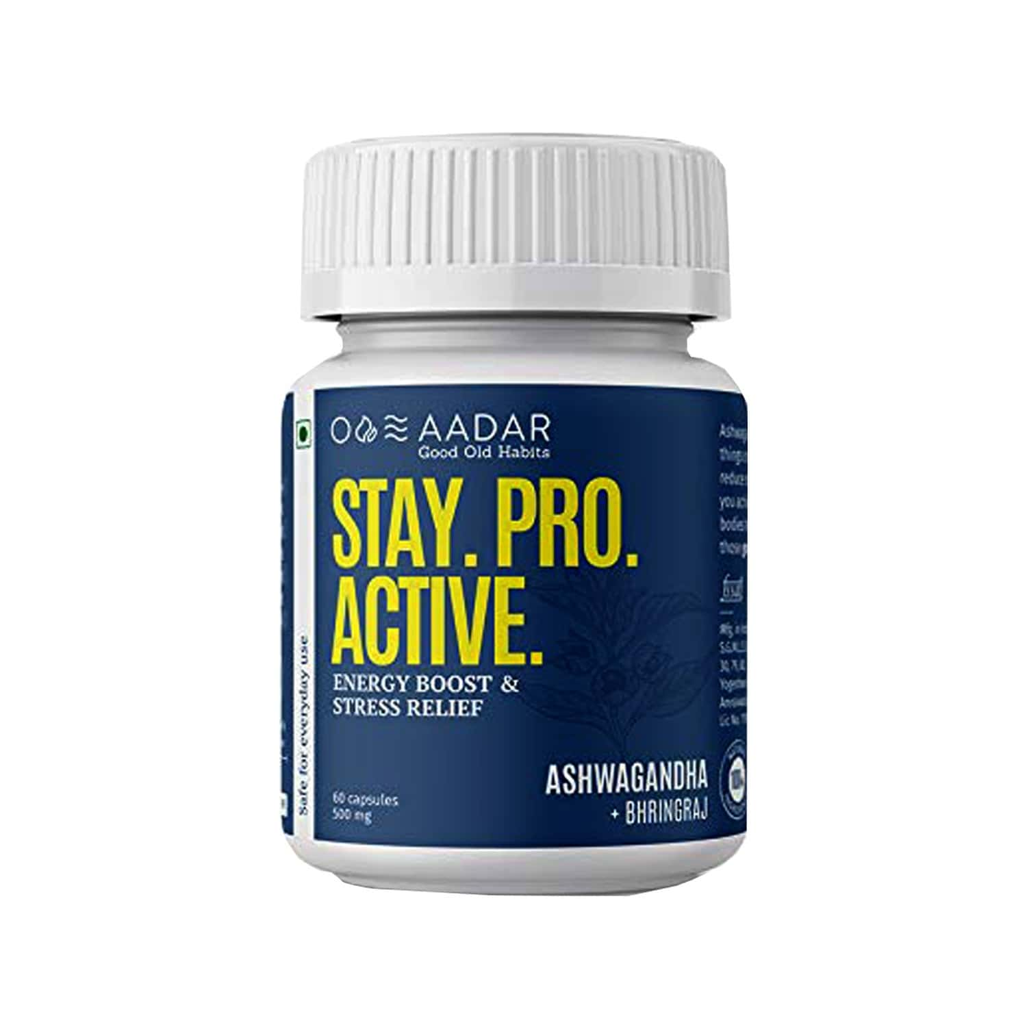 Aadar Stay. Pro. Active Weight Management Capsules Bottle Of 60