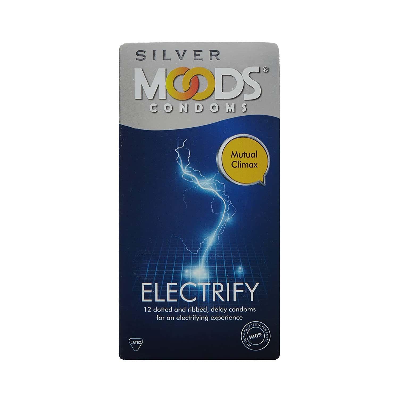 Moods Silver Electrify Box Of 12 Condoms