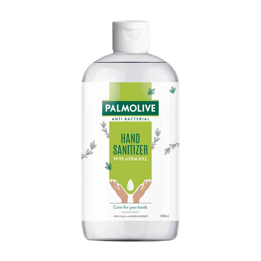 Palmolive Anti Bacterial Hand Sanitizer, Non-sticky, Alcohol Based (99.9% Germ Kill) - 500ml
