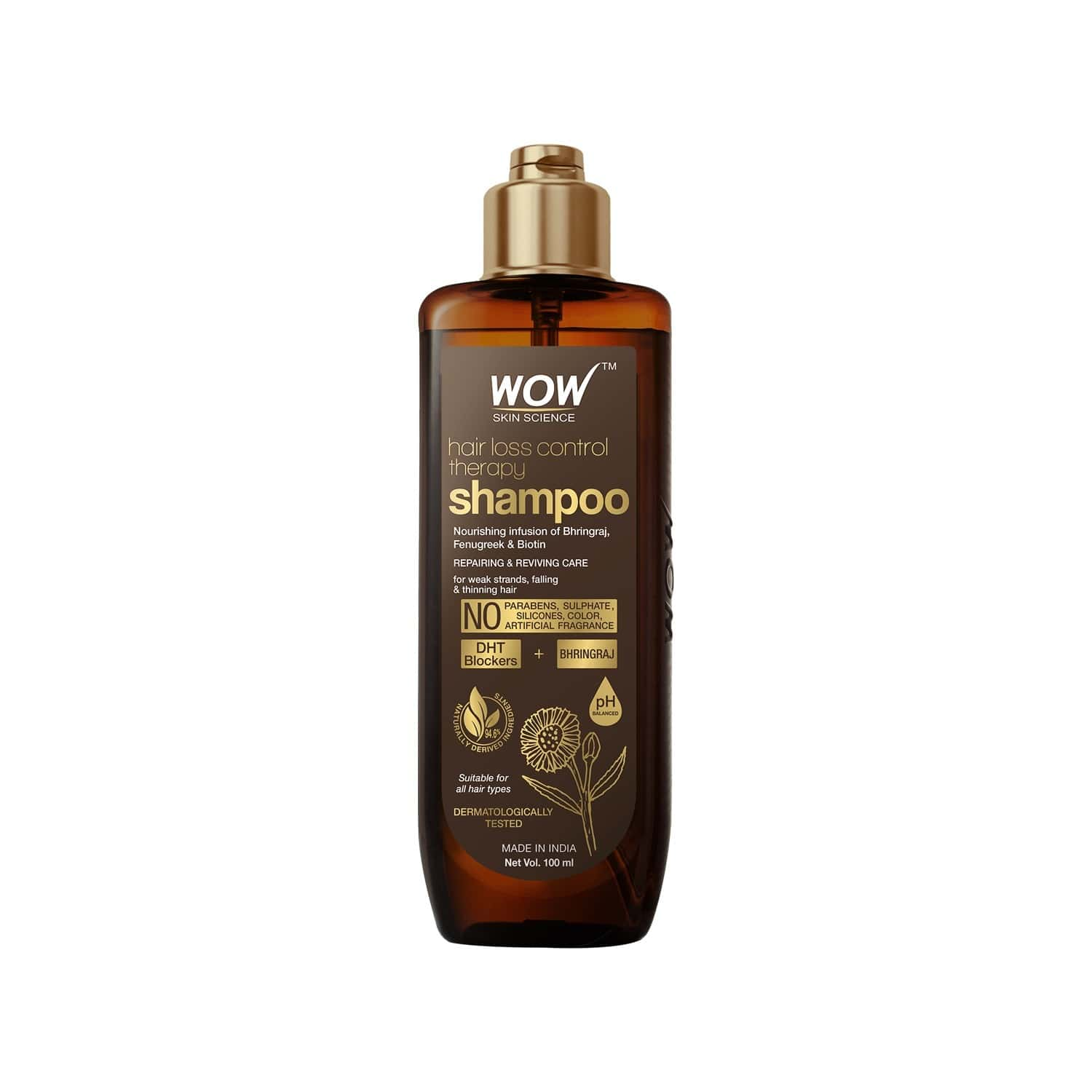 Wow Skin Science Hair Loss Control Therapy Shampoo -100 Ml
