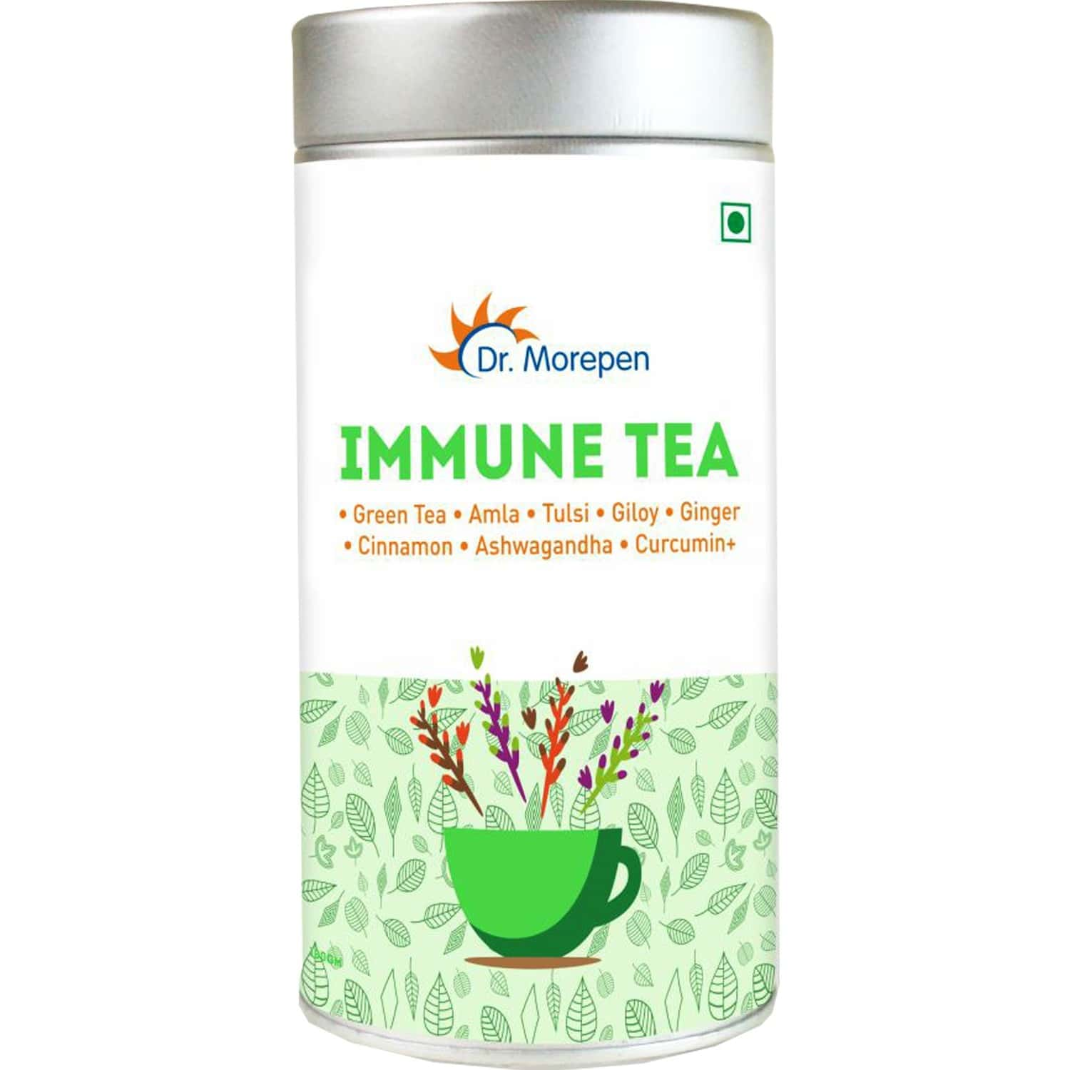 Dr. Morepen Immune Immunity Booster Tea With Mint For Body Detox, Weight Management & Stress Relief - 100g