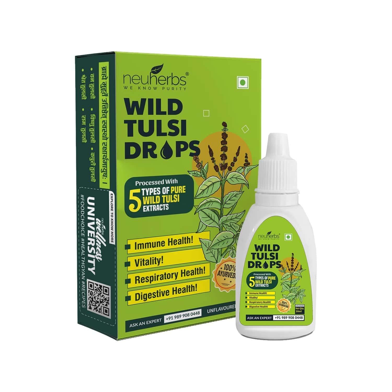 Neuherbs Wild Tulsi Drops - 30ml