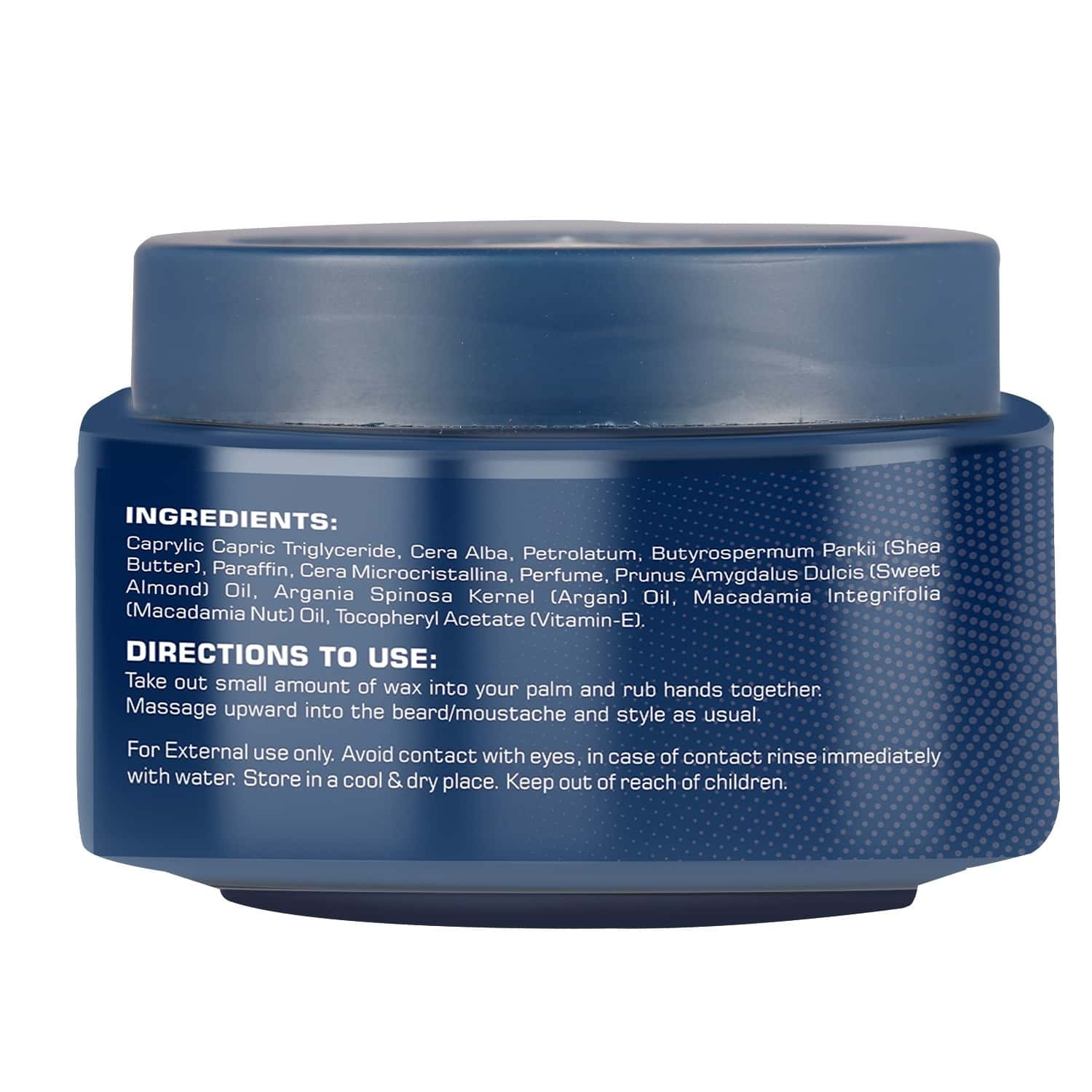 The Beard Story Beard & Moustache Styling Wax,strong Hold With Shine - 45 Gm