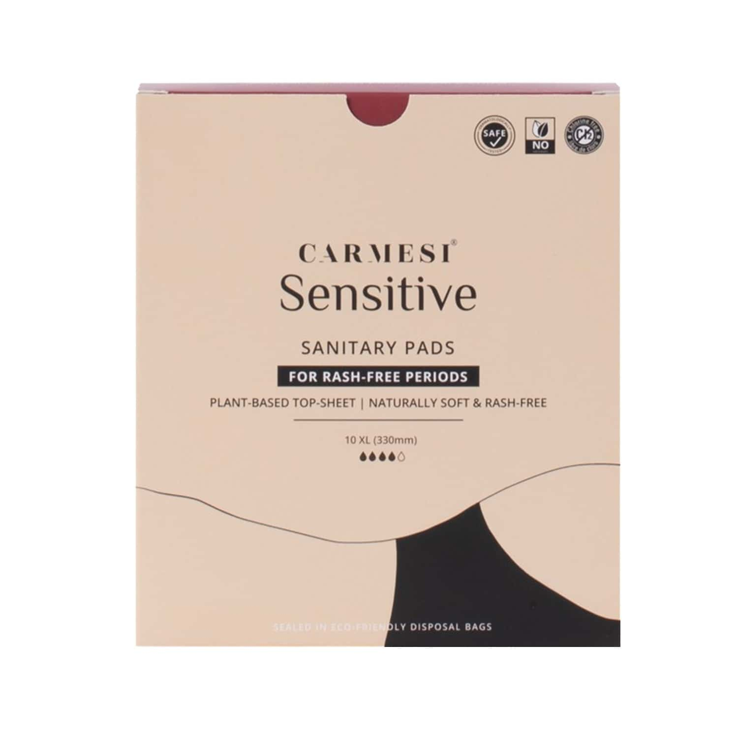 Carmesi Sensitive - Sanitary Pads For Rash-free Periods (10 Xl)