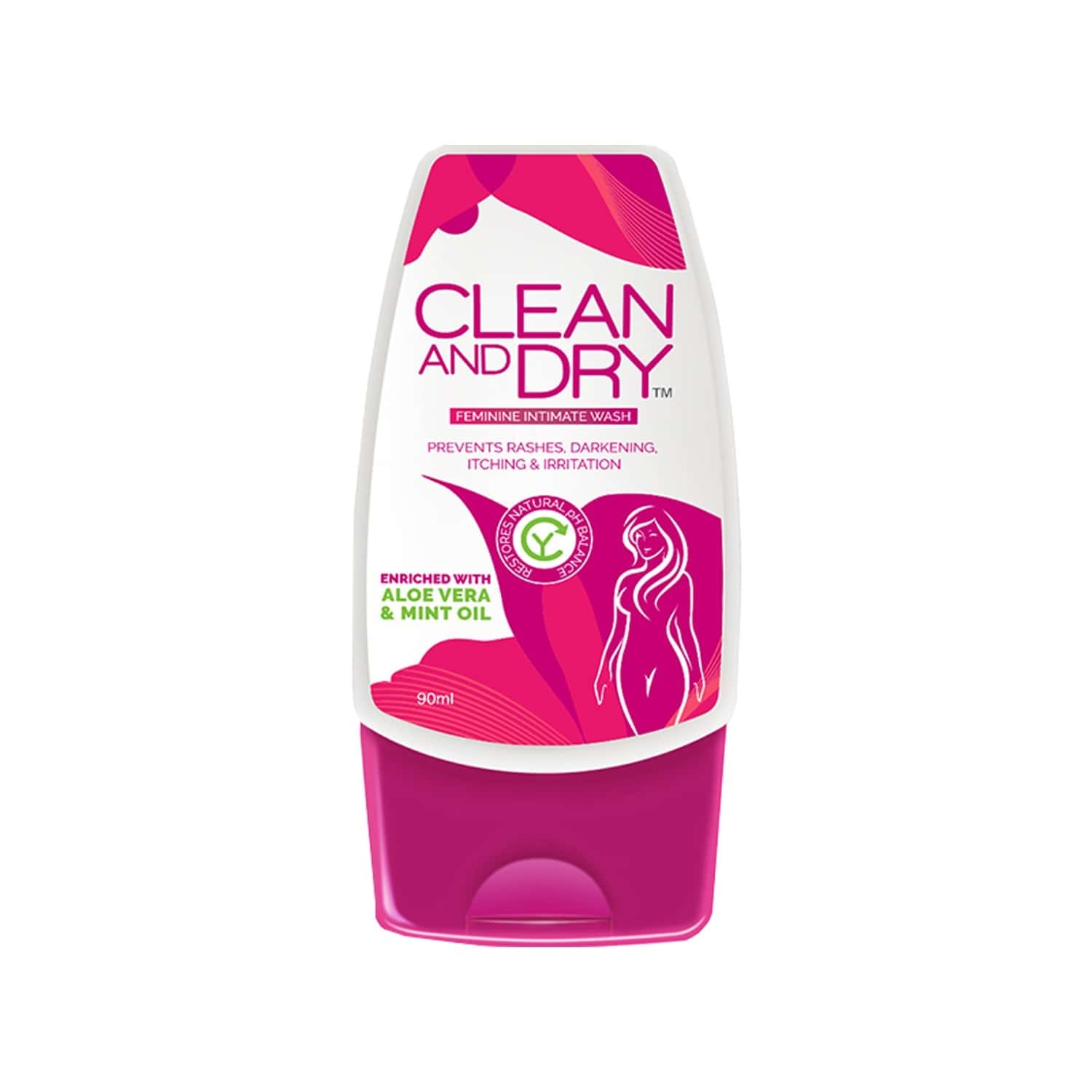 Clean And Dry Intimate Wash Bottle Of 90 Ml