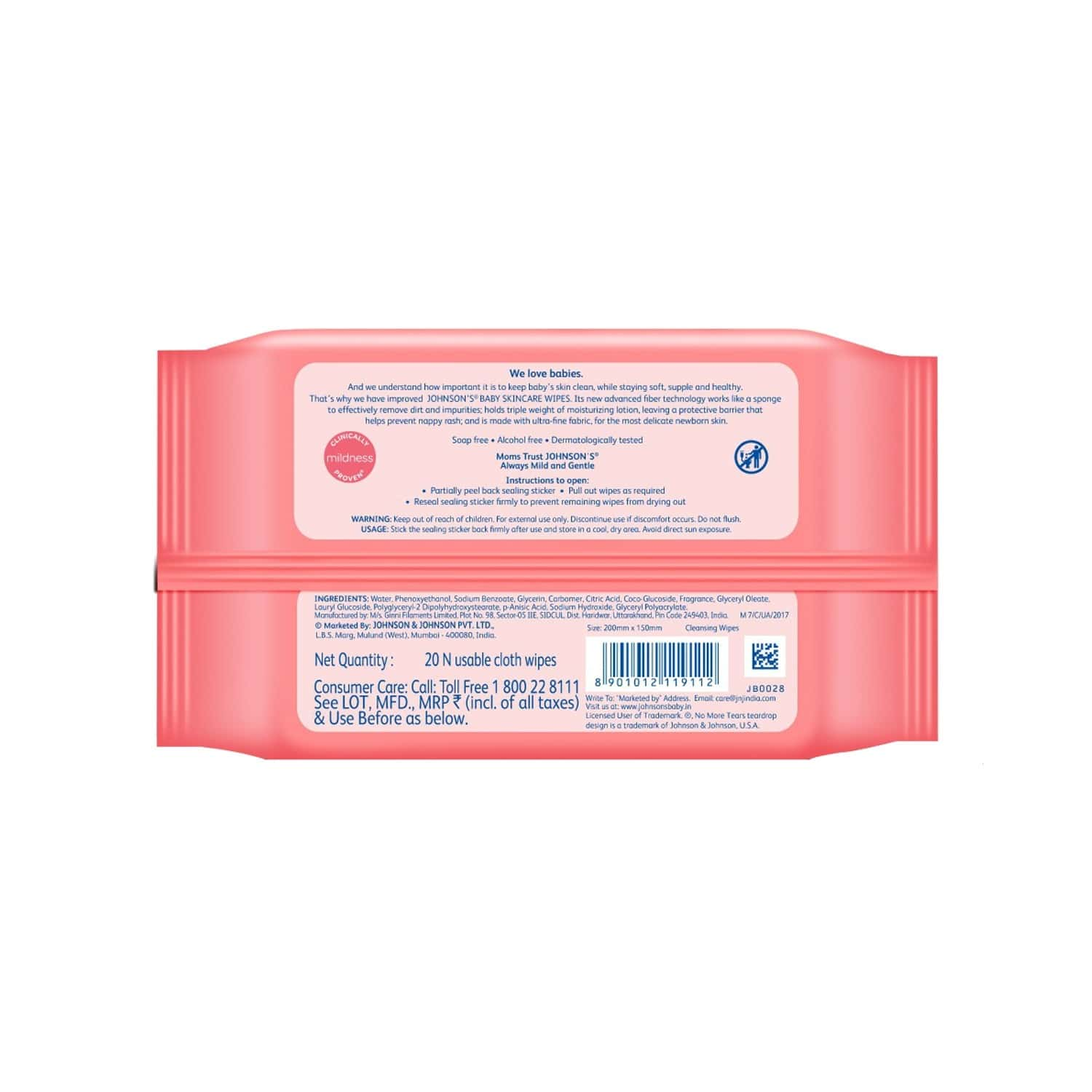 Johnson's Baby Wipes Pack Of 20