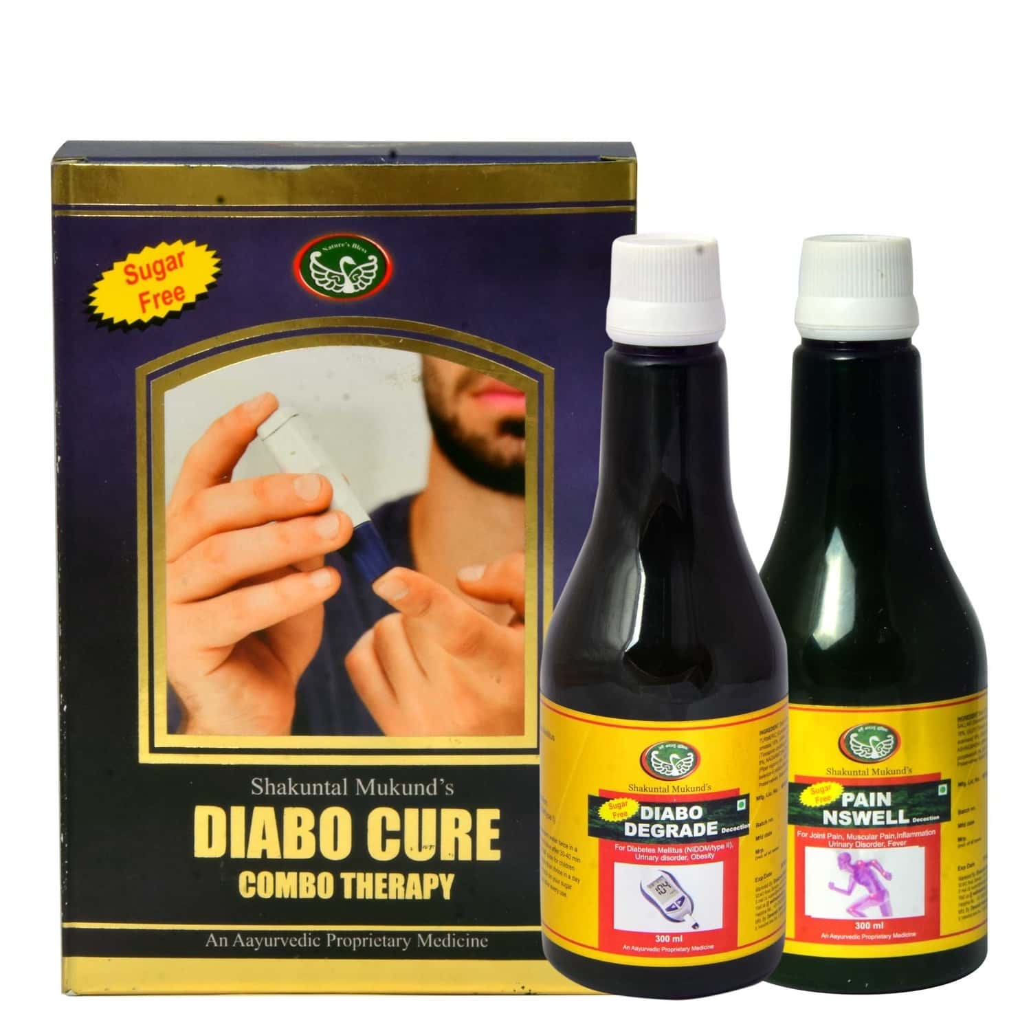 Smw's Diabetes Control Diabocure Combo Therapy Pack Of 600 Ml 'herbal Decoction'