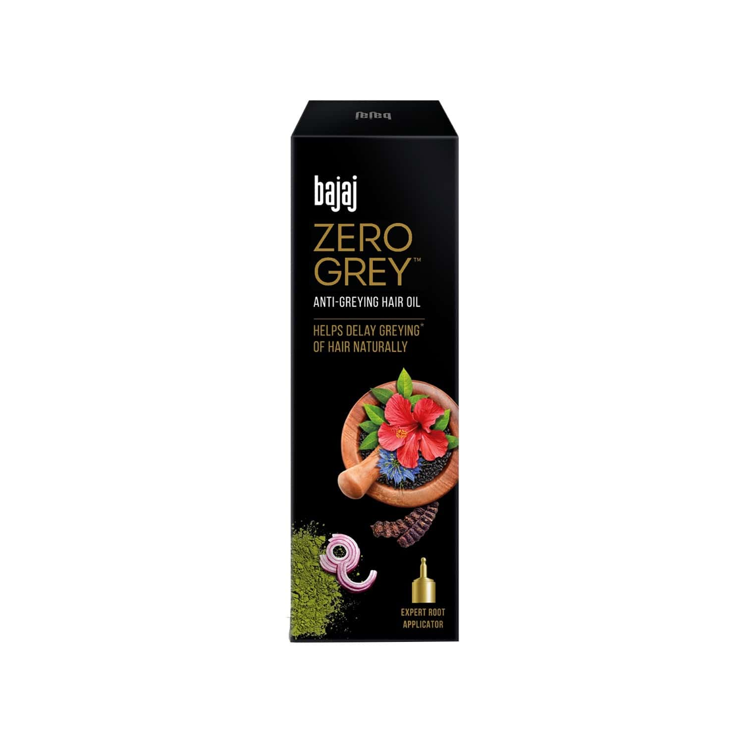 Bajaj Zero Grey Hair Oil Enriched With Onion, Helps Fight Greying Of Hair Naturally, 100ml