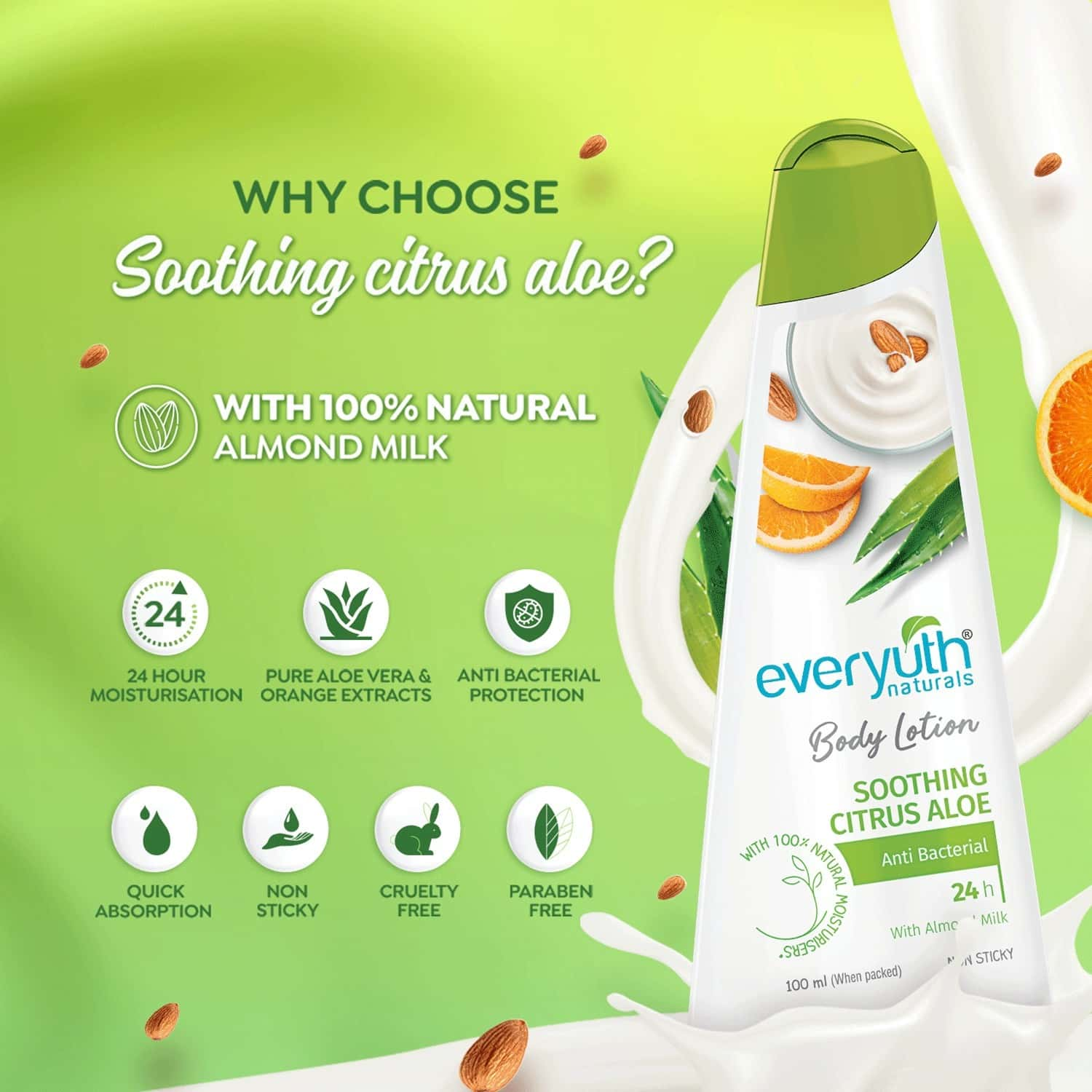 Everyuth Naturals Body Lotion Soothing Citrus Aloe 100ml