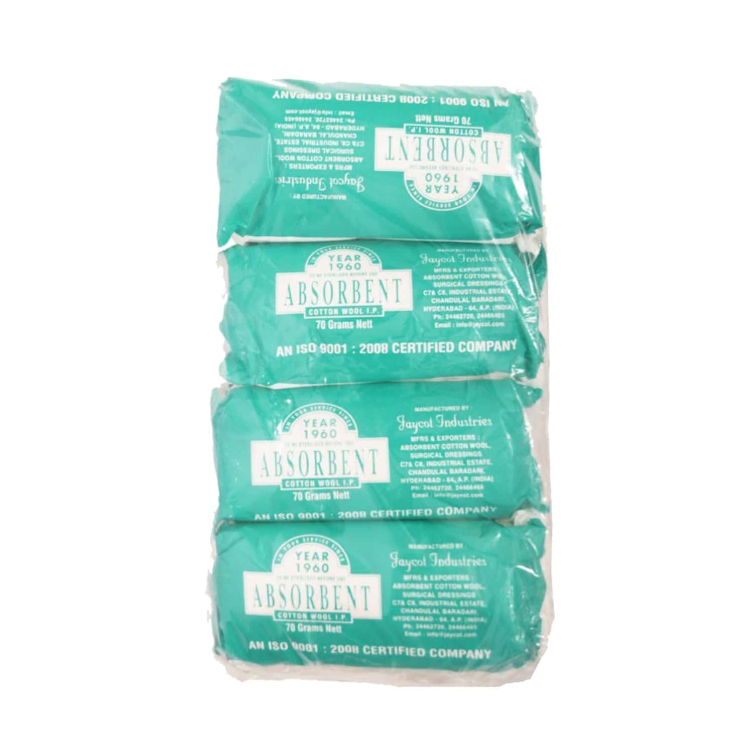 Absorbent Cotton Wool By Jaycot 70 Gm(pack Of 4)