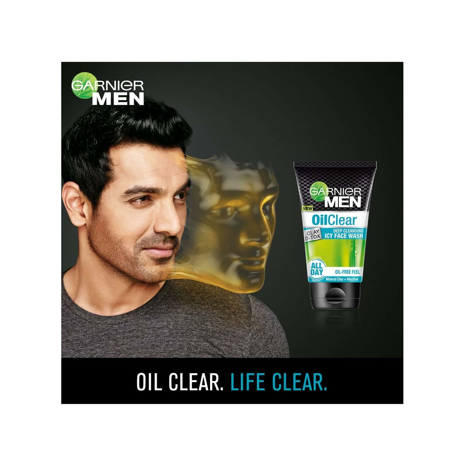 Garnier Men Oil Clear Clay D-tox Deep Cleansing Icy Face Wash Tube Of 100 G