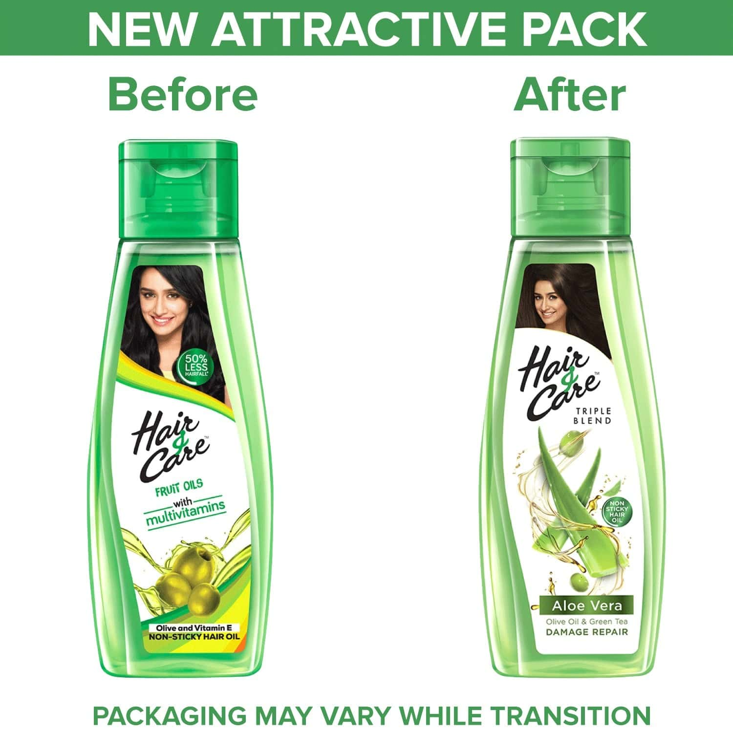 Hair & Care Damage Repair Non-sticky Hair Oil With Aloe Vera, Olive Oil & Green Tea - 300 Ml With Free 100 Ml