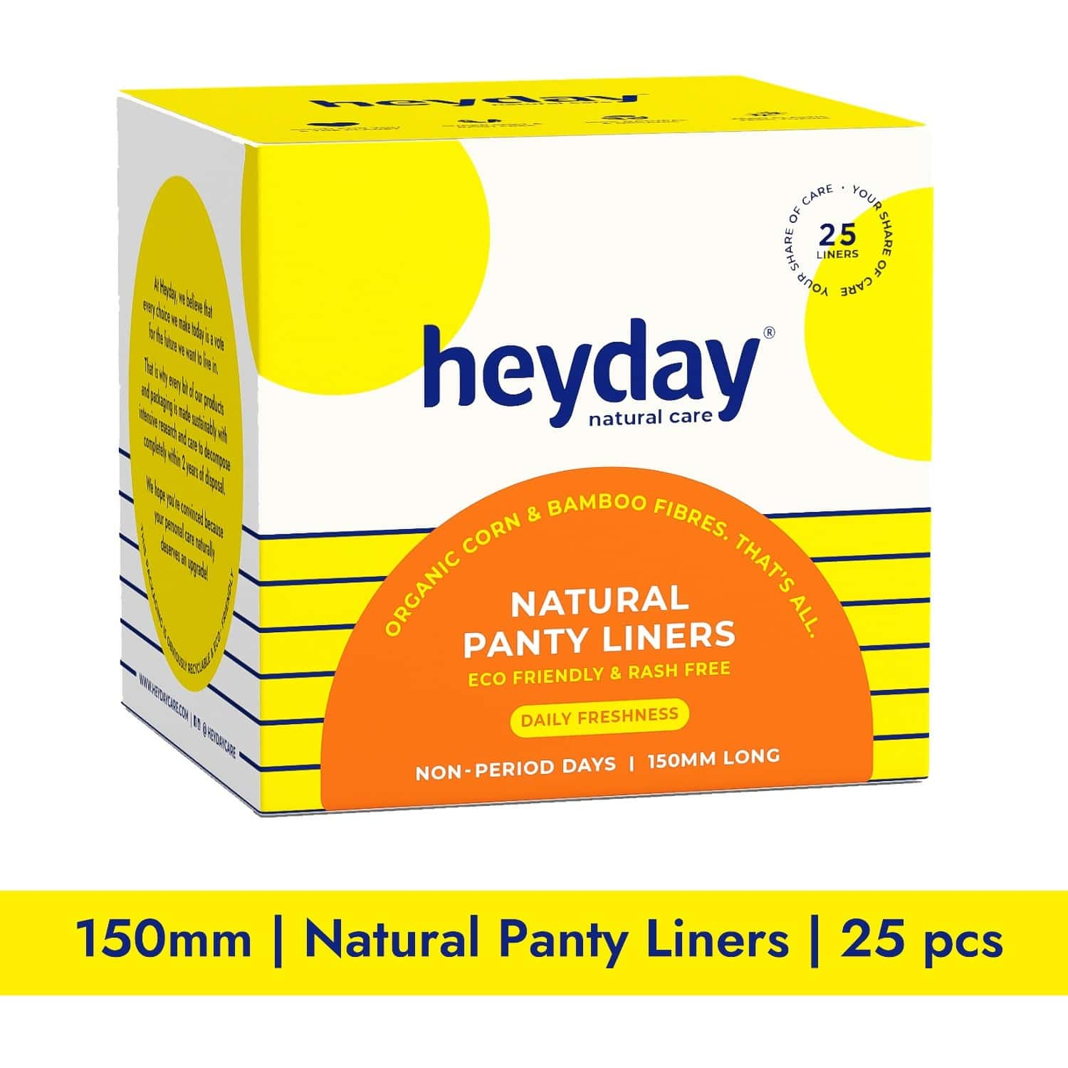 Heyday Natural & Organic Panty Liners (25 Liners)
