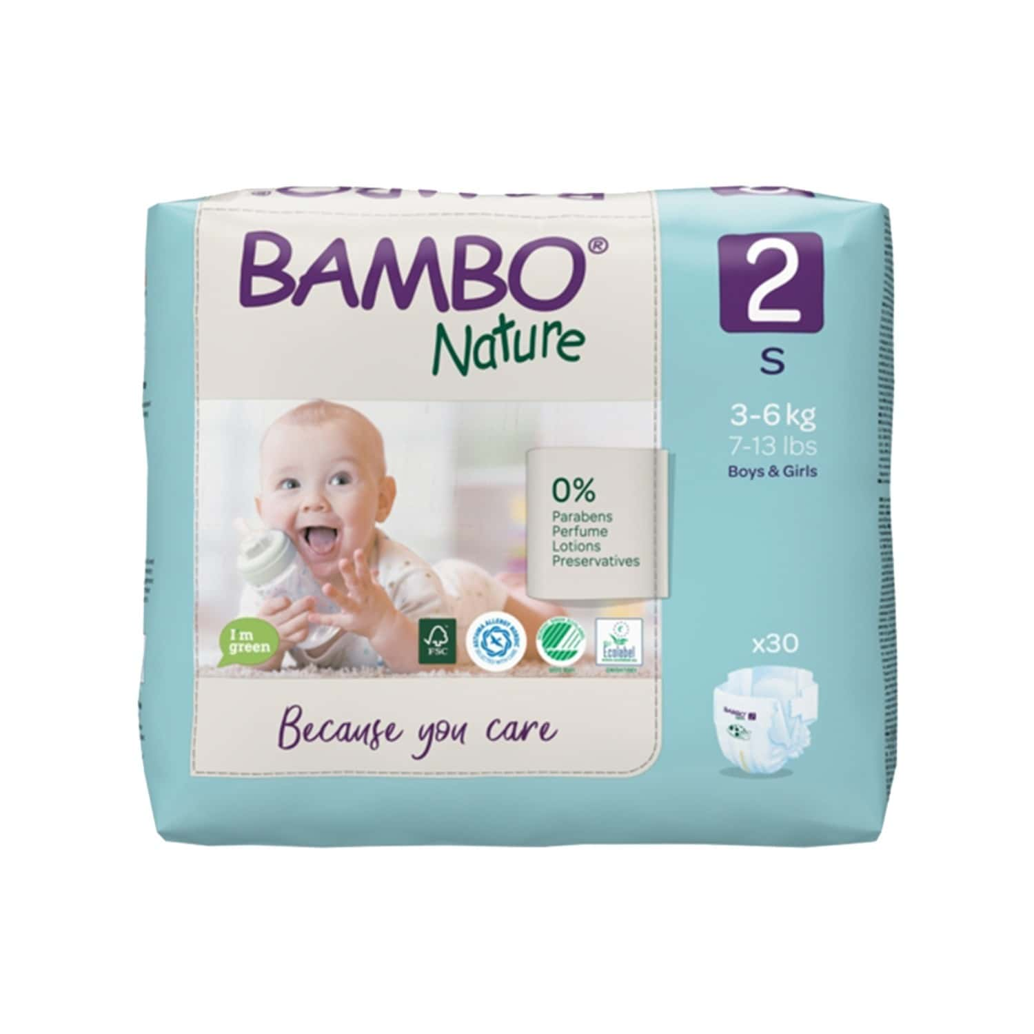 Bambo Nature Small Size Diaper With Wetness Indicator - 30 Diapers