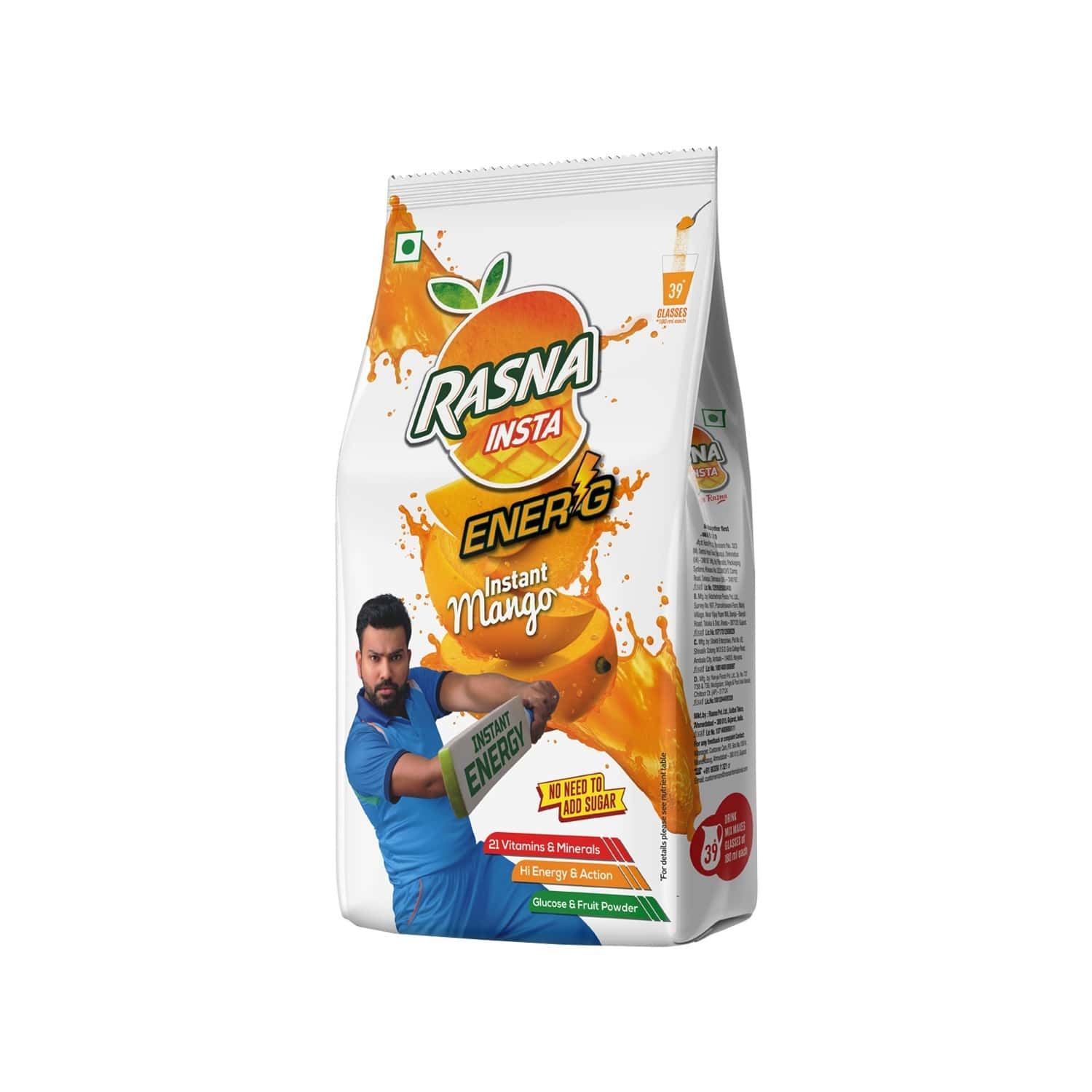 Rasna Insta Drink Concentrate Mix 750 G Pack - Mango