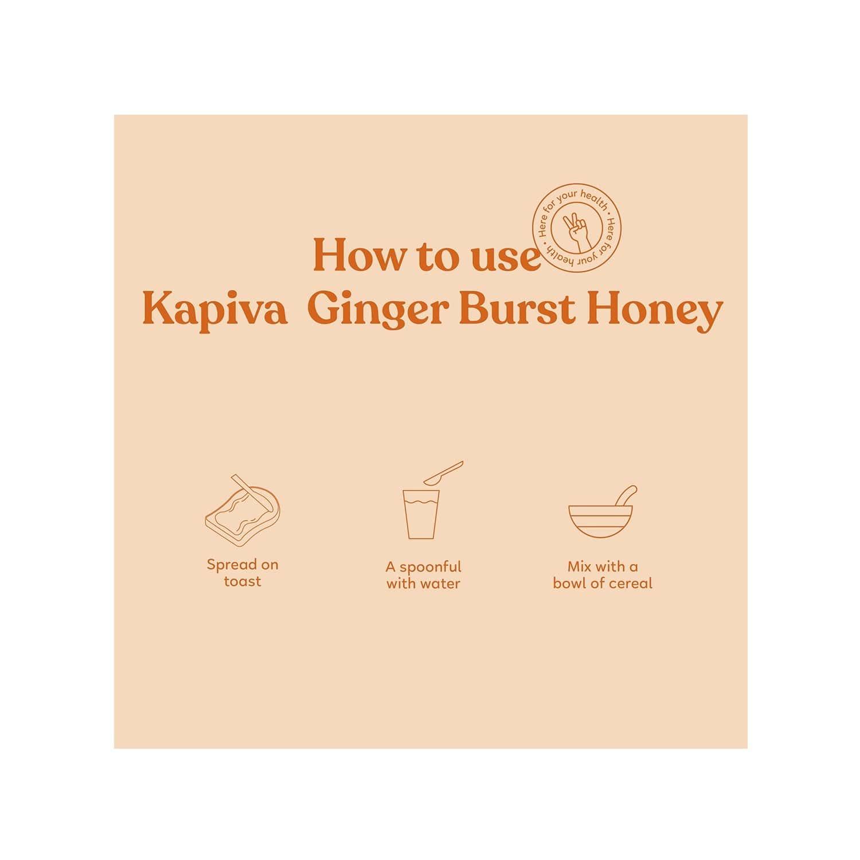 Kapiva Ginger Burst Honey Jar Of 250 G