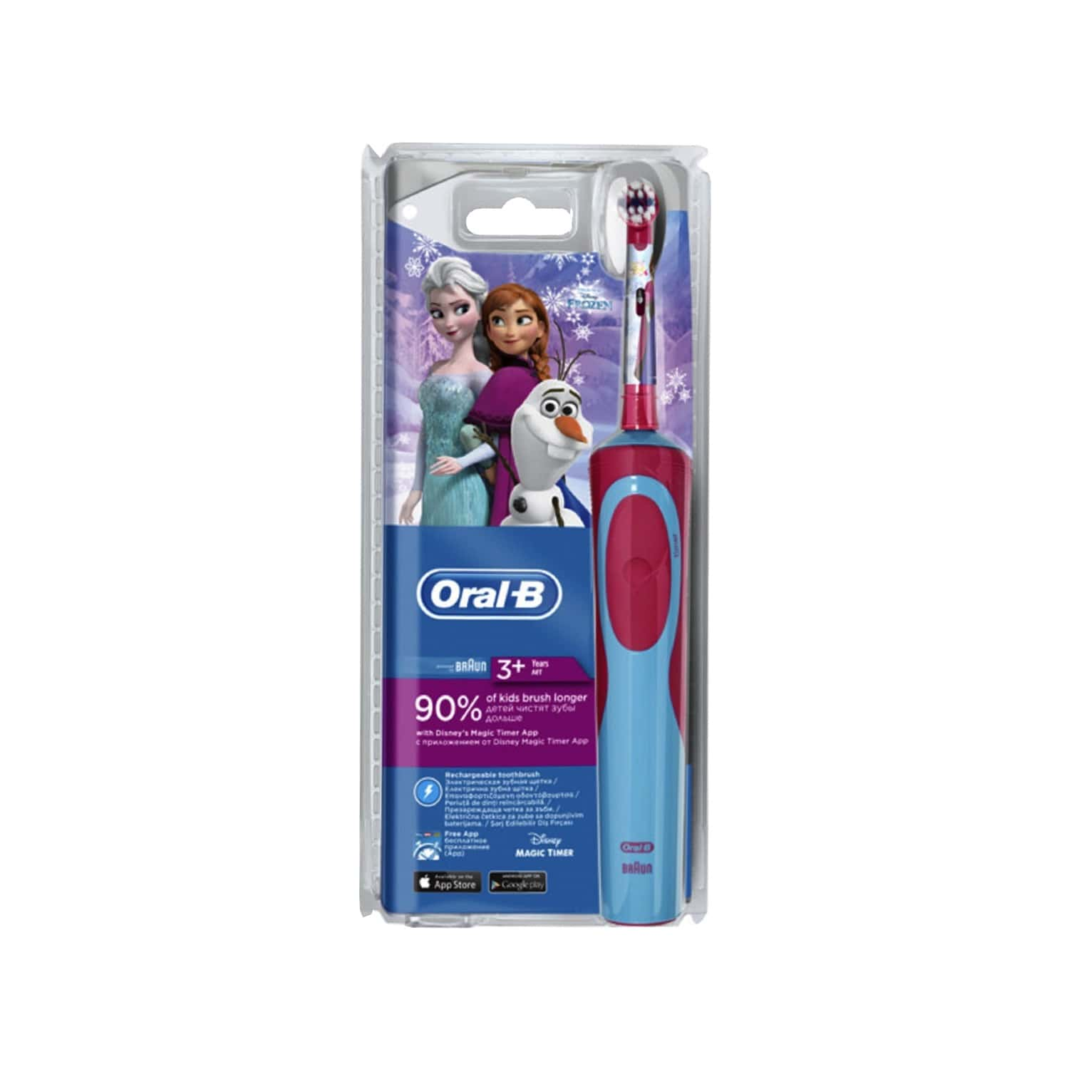 Oral-b Kids  Electric Rechargeable Toothbrush Featuring Frozen Characters