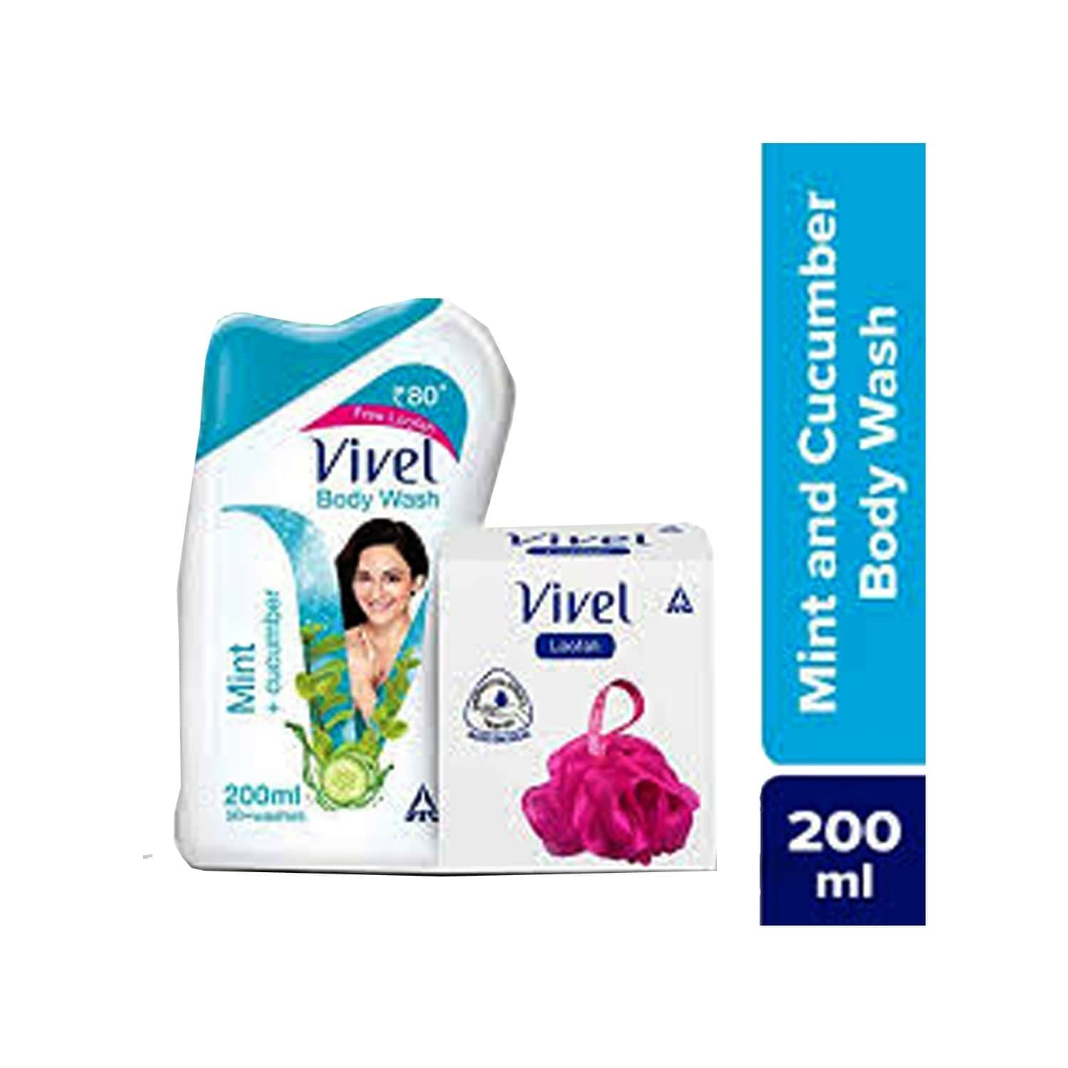Vivel Mint And Cucumber Body Wash Bottle Of 200 Ml