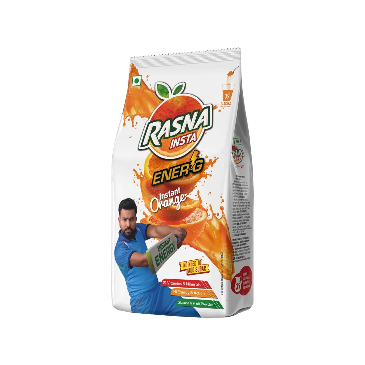 Rasna Insta Drink Concentrate Mix 500 G Pack - Orange