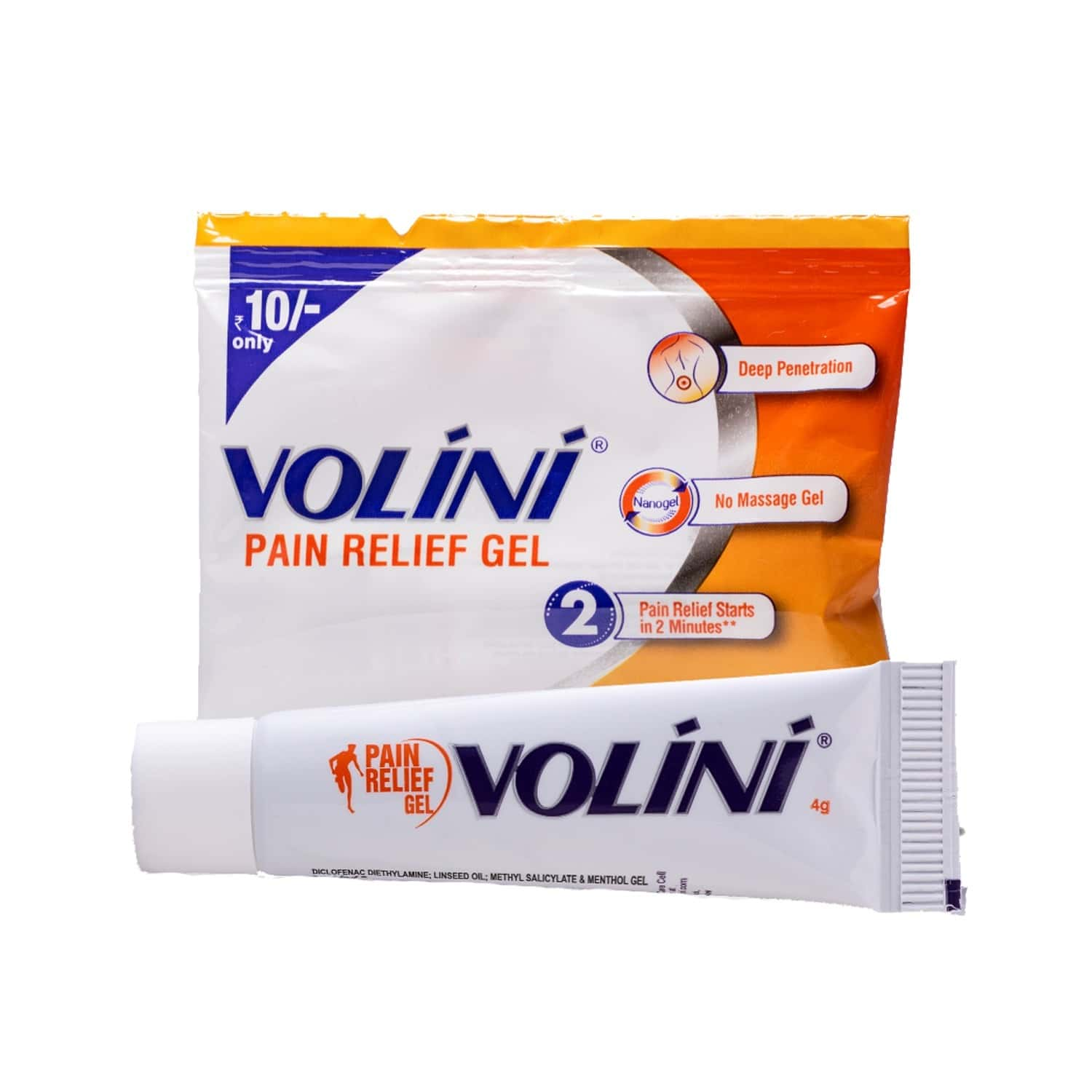 Volini  Pain Relief Gel  Tube Of 4 G