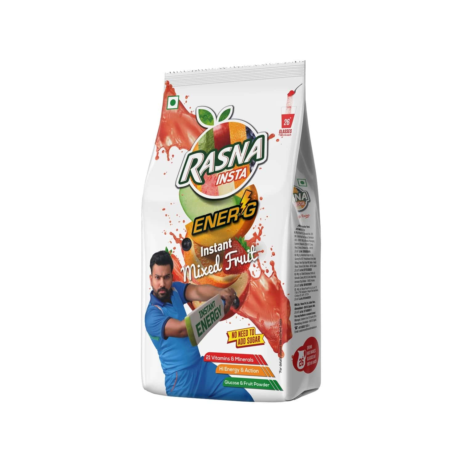 Rasna Insta Drink Concentrate Mix 500 G Pack - Mixed Fruit