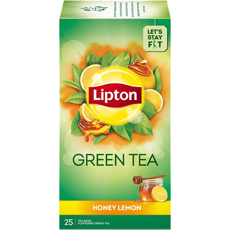 Lipton Honey Lemon Green Tea Bags, 25 Pc