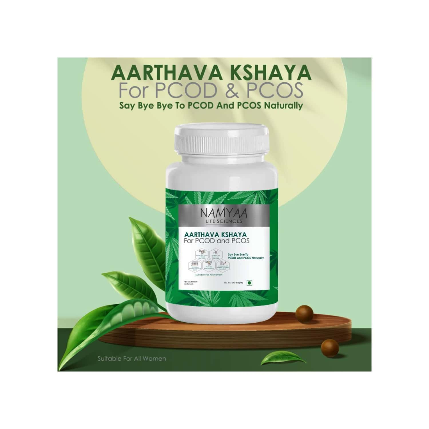 Namyaa Aarthava Kshaya For Pcod And Pcos - Pack Of 60 Tablets - 100 G