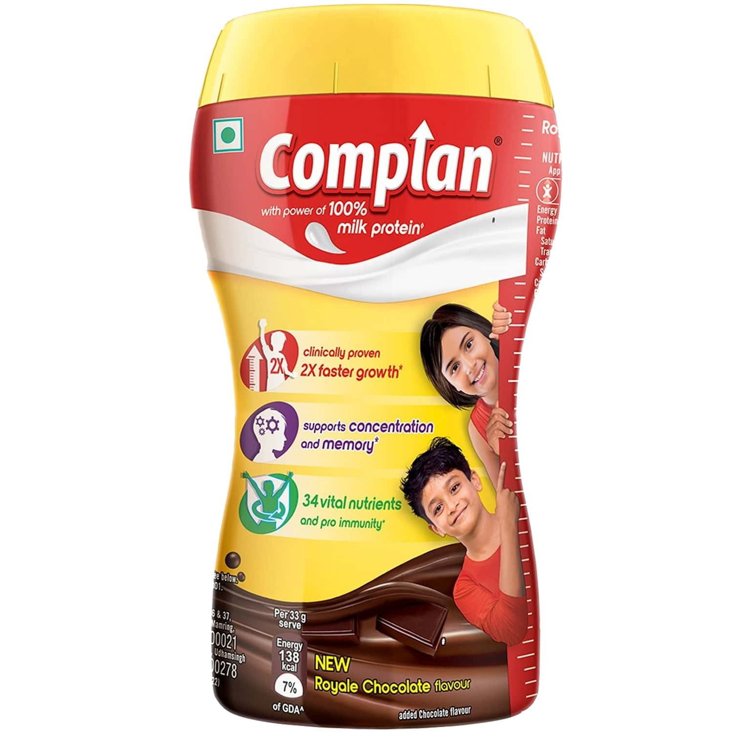 Complan Nutrition And Health Drink Royale Chocolate 200g, Jar