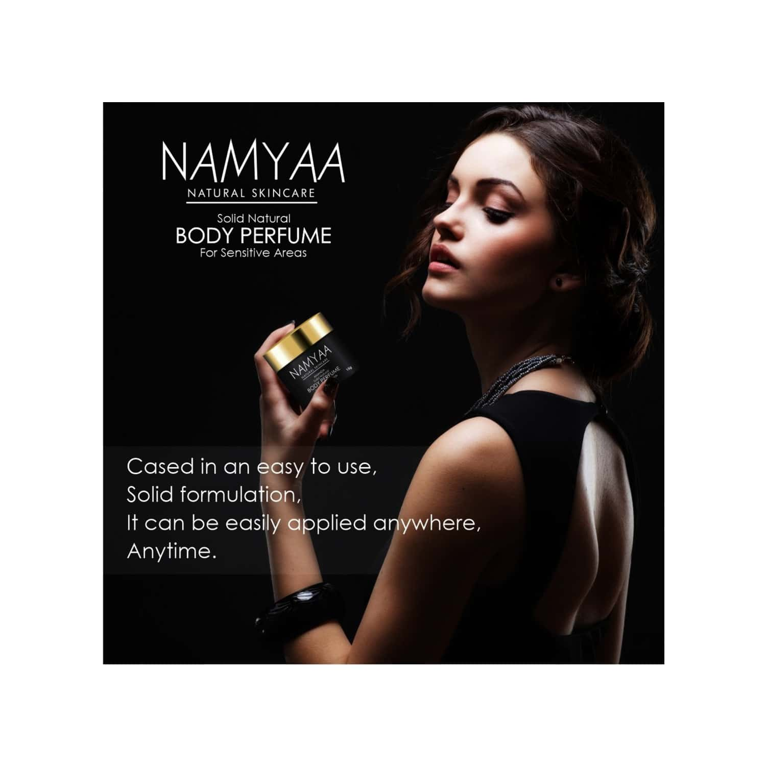 Namyaa Solid Natural Body Perfume For Underarms, Inner Thigh, Knee And Bikini Area, Sensitive Areas - 15 G (pack Of 3)