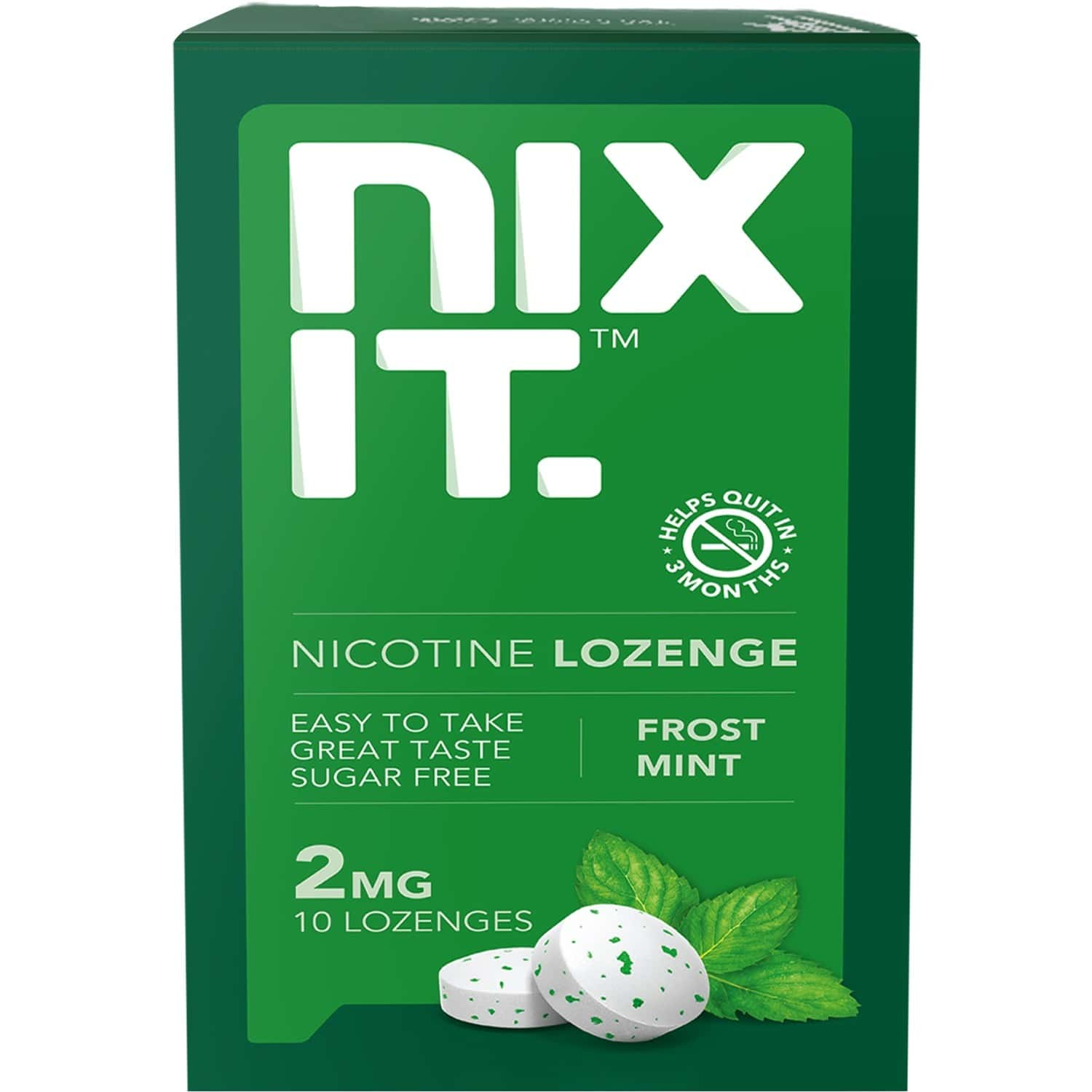 Nixit Nicotine Frost Mint Lozenges 2mg, Sugar Free (pack Of 40) - Helps Quit Smoking