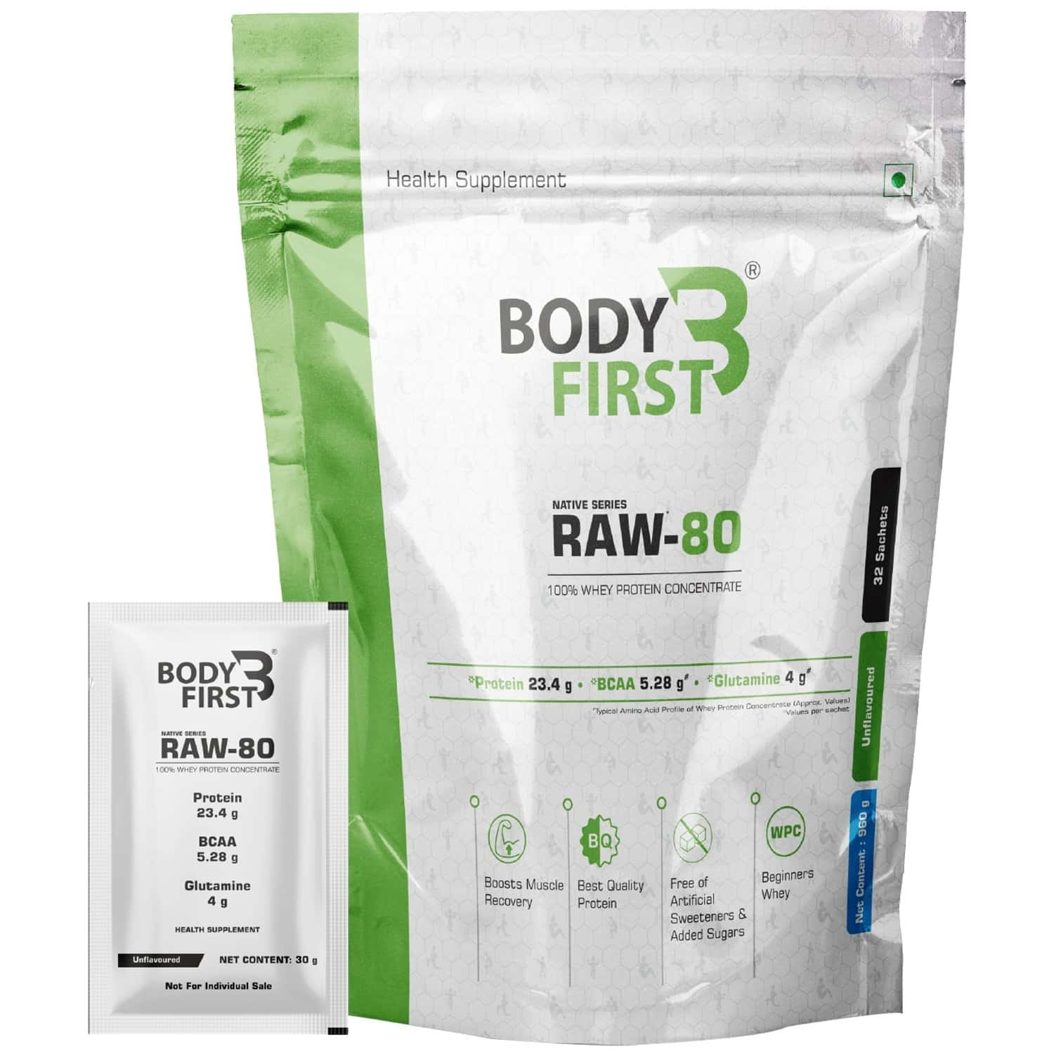 Bodyfirst Raw-80 (100% Whey Protein Concentrate)