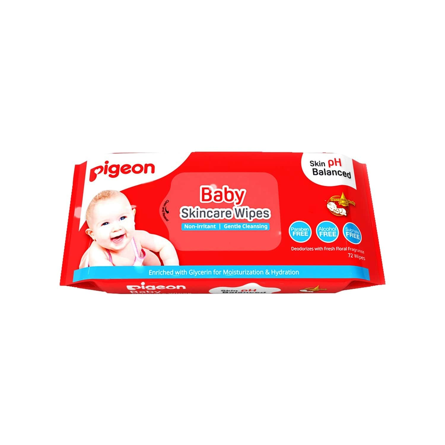 Pigeon Baby Skincare Wipes - 72 Sheets