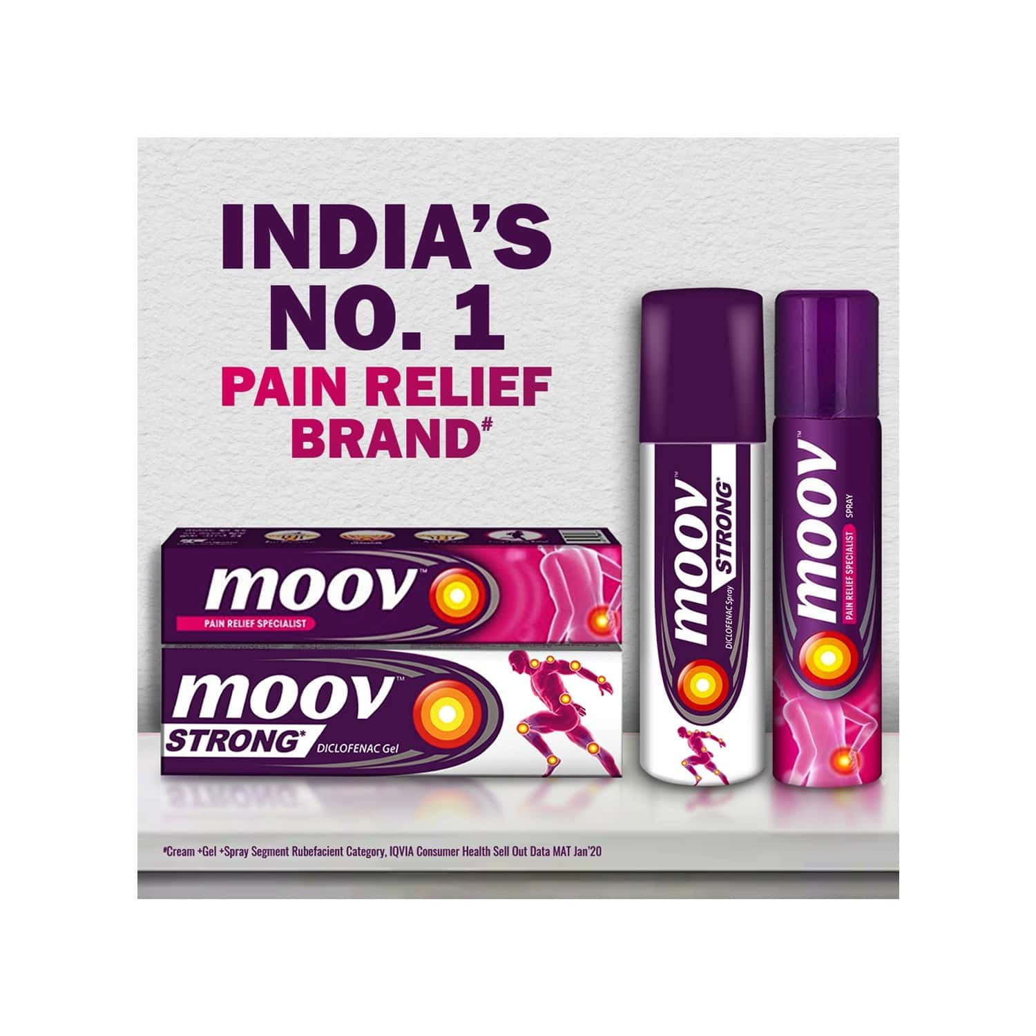 Moov Strong Diclofenac Pain Relief Gel - 20g