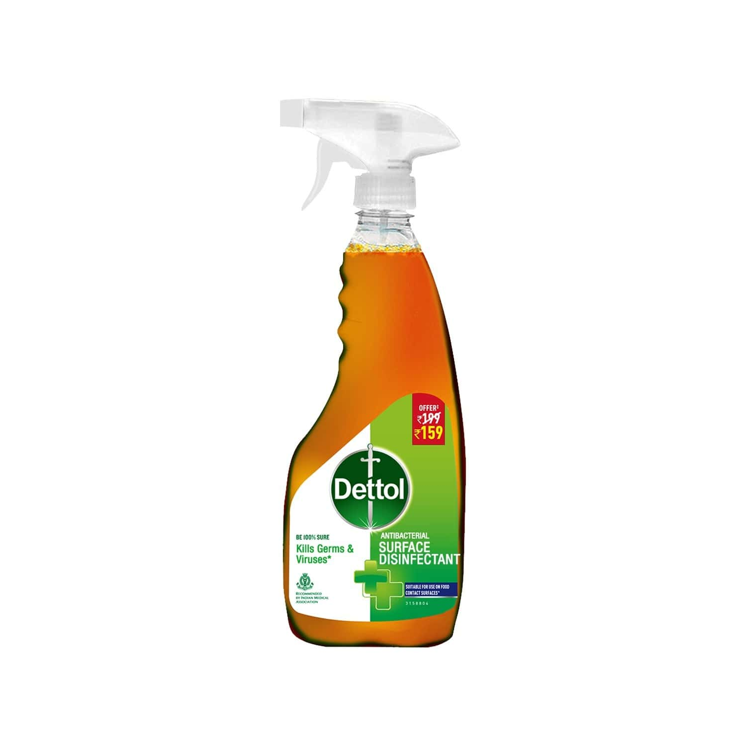 Dettol Antibacterial Surface Disinfectant Spray Sanitizer, Kills Germs & Viruses, Multi - Purpose Germ Protection Cleaner - 500ml