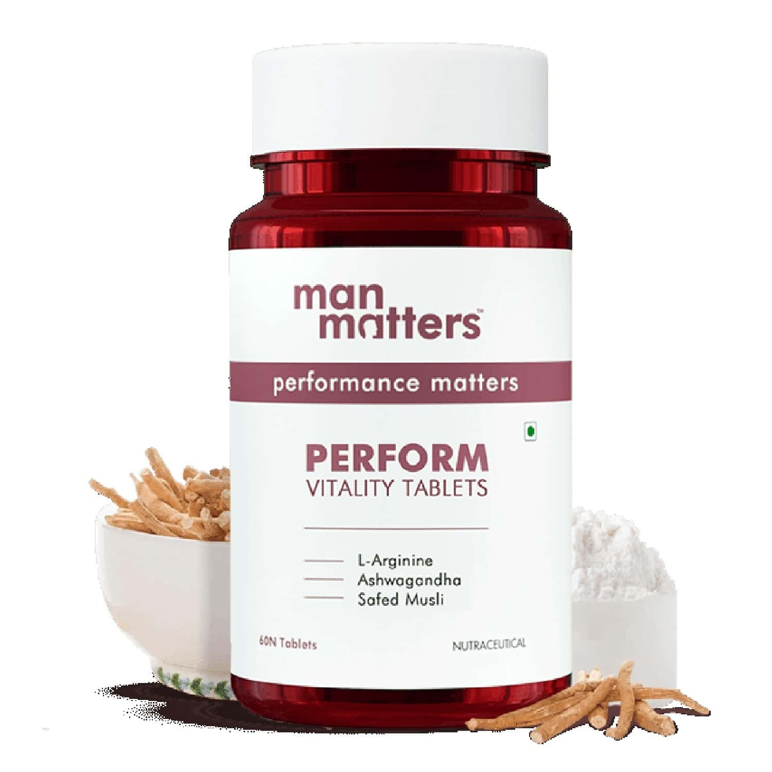 Man Matters Perform Vitality Tablets - 60 Capsules