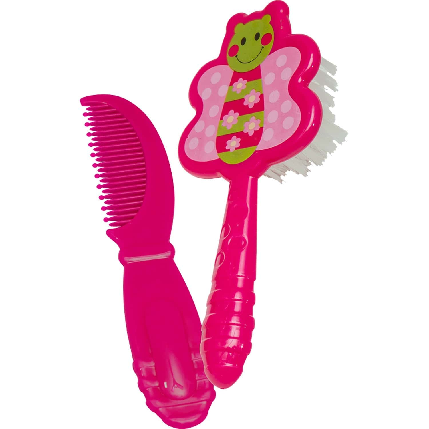 Beebaby Soft Brush And Comb Set For Newborn Babies Butterfly Shape. (pink)