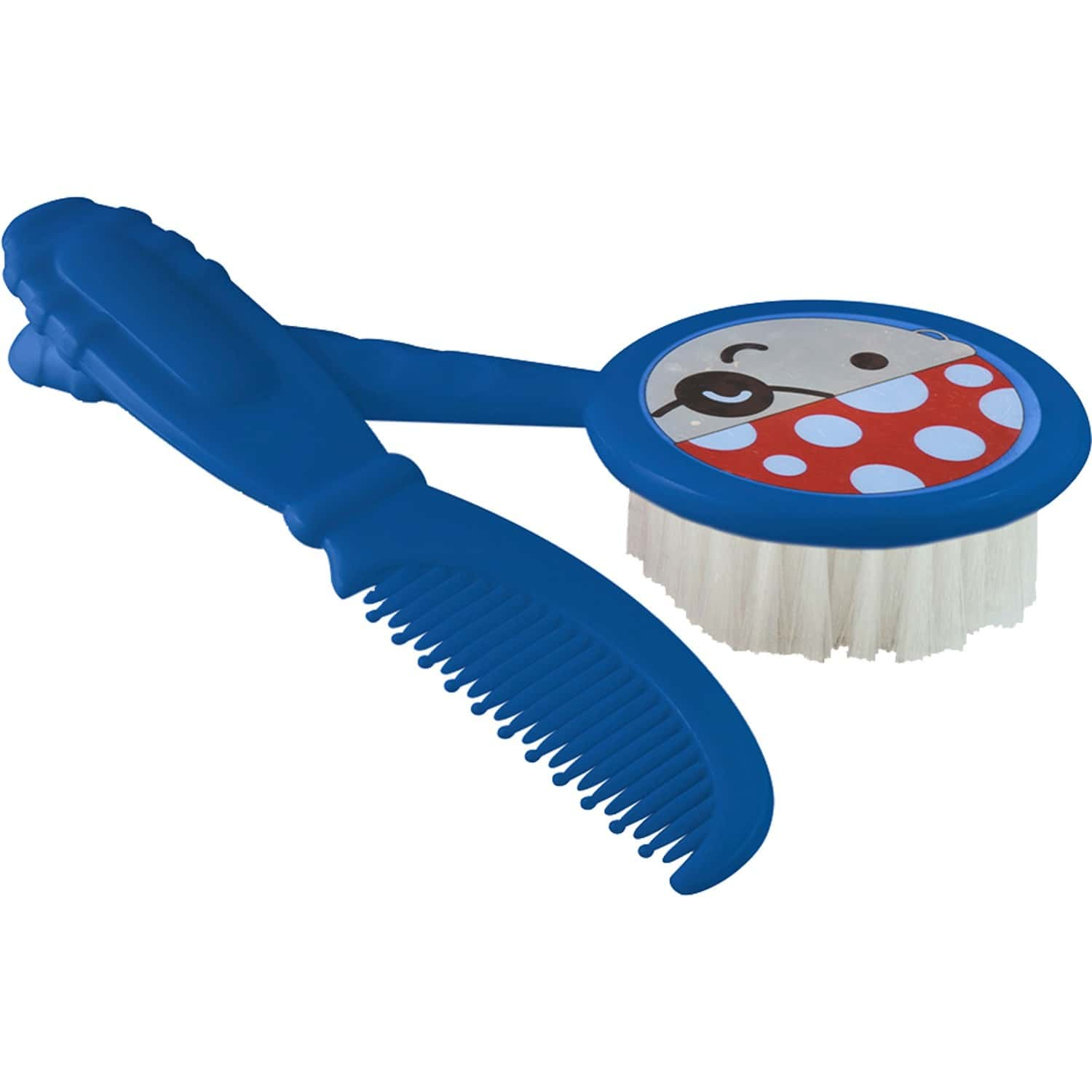 Beebaby Soft Brush And Comb Set For Newborn Babies Round Shape (blue)