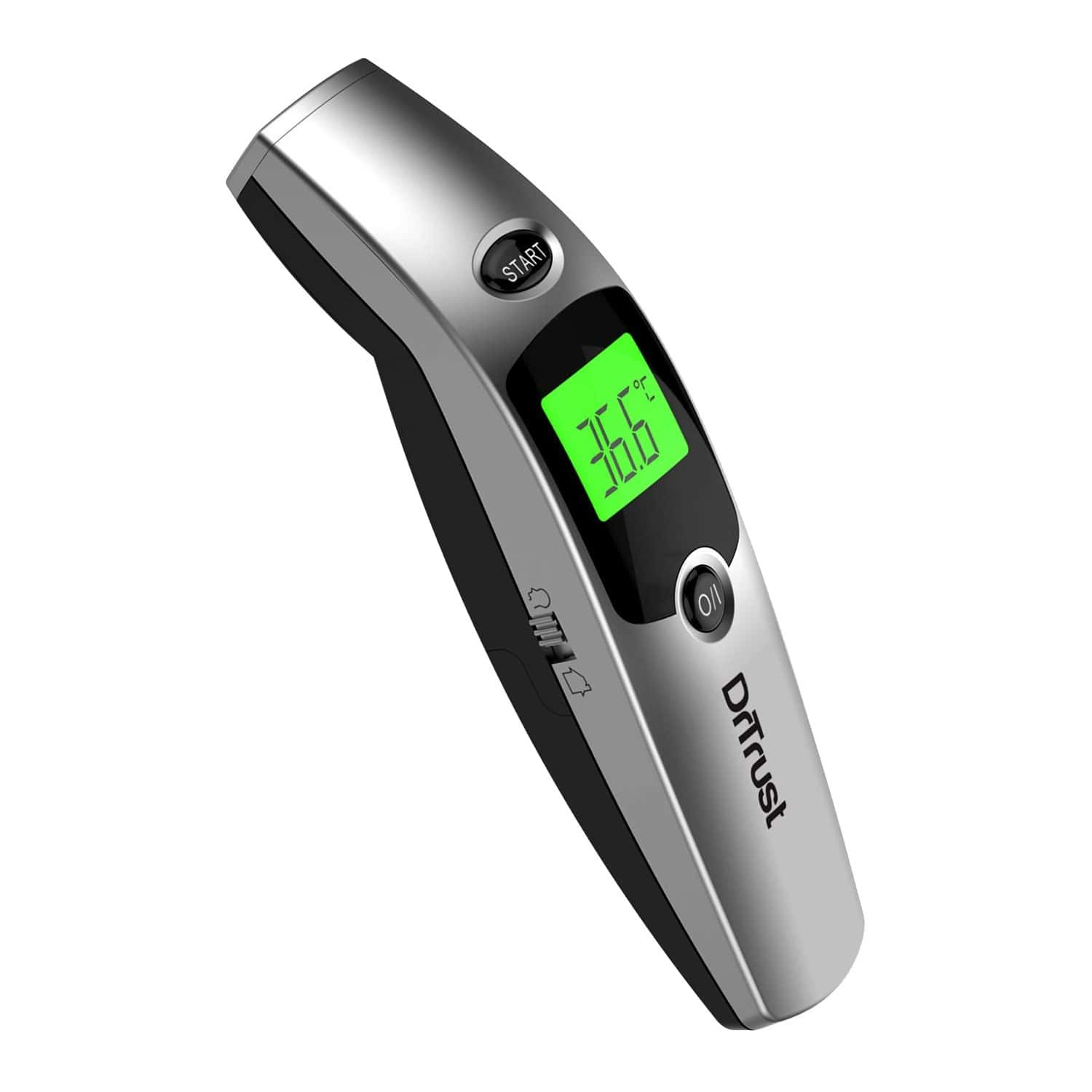 Dr Trust ( Usa ) Forehead Digital Infrared Thermometer For Babies And Adults With Color Coded Fever Guidance