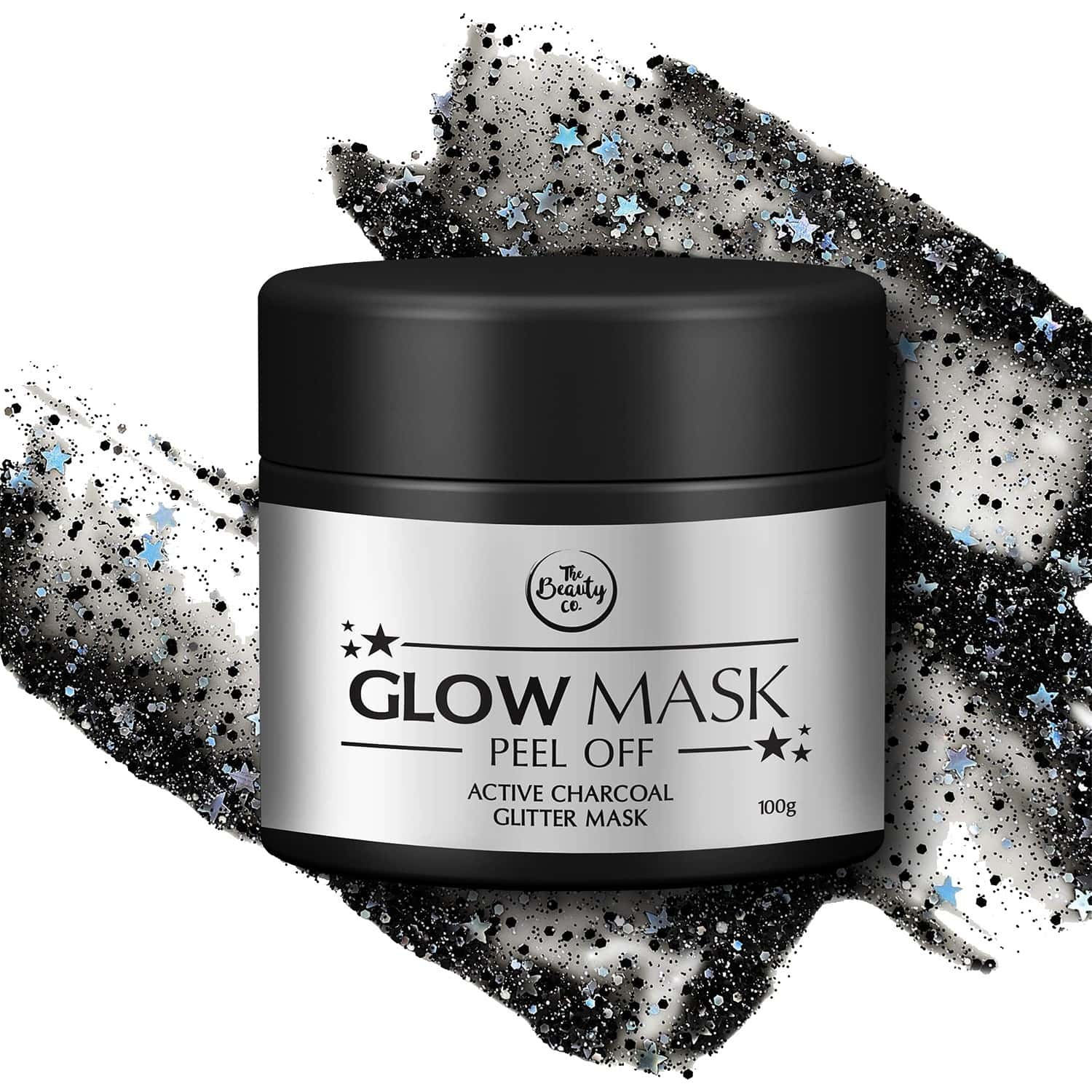 The Beauty Co. Glitter Glow Mask, 100 G (activated Charcoal)